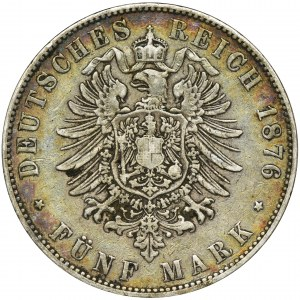Niemcy, Saksonia, Albert, 5 Marek Drezno 1876 E