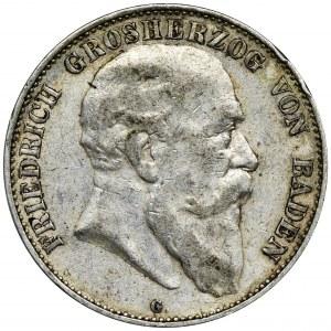 Niemcy, Badenia, Fryderyk I, 5 Marek Karlsruhe 1903 G