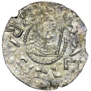 Czechy, Brzetysław II, Denar - obwódka perełkowa