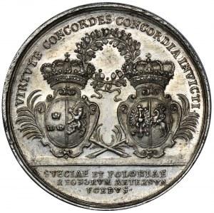 Stanisław Leszczyński i Karol XII, Medal przymierza Polski i Szwecji 1705 - BARDZO RZADKI