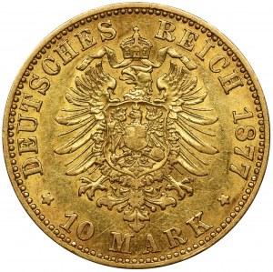 Niemcy, Królestwo Prus, Wilhelm I, 10 Marek Berlin 1877 A