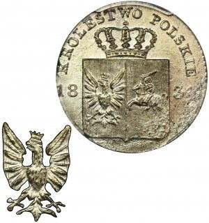 November Uprising, 10 groszy Warsaw 1831 KG - NGC MS64