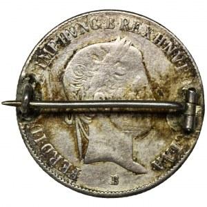 Węgry, Ferdynand I, 20 Krajcarów 1839 - zapinka
