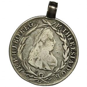 Austria, Maria Teresa, 20 Krajcarów Kremnica 1779 B - zawieszka