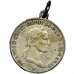 Węgry, Franciszek I, 20 Krajcarów 1833 - zawieszka