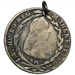 Austria, Maria Teresa, 20 Krajcarów Kremnica 1776 B - zawieszka