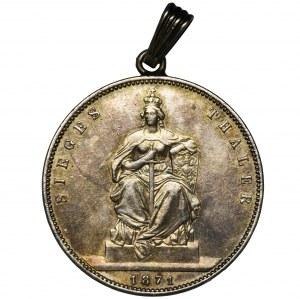 Niemcy, Królestwo Prus, Wilhelm I, Talar zwycięstwa Berlin 1871 A - zawieszka