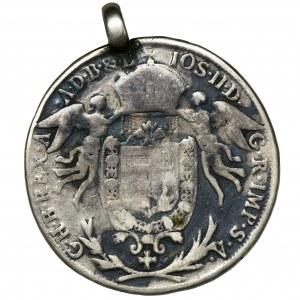 Węgry, Józef II, Półtalar Wiedeń 1786 A - zawieszka