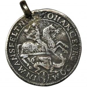Germany, Mansfeld, Johann Georg, 1/3 Thaler Eisleben 1673