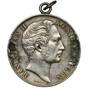 Niemcy, Bawaria, Maksymilian II Józef, Talar Monachium 1855 - zawieszka