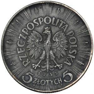 Piłsudski, 5 złotych 1935 - FAŁSZERSTWO