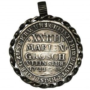 Niemcy, Stolberg, Christof Friedrich i Jost Christian, 2/3 Talara 1706 - BARDZO RZADKIE - zawieszka