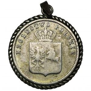 Powstanie Listopadowe, 2 złote Warszawa 1831 KG - wisiorek - PATRIOTYK