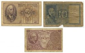Italy, set of 4-10 lire (1935-1944)