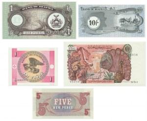 Mixed lot banknotes (5 pcs.) - including Biafra