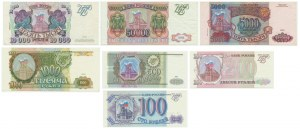 Rosja, zestaw 100-50.000 rubli 1993 (7 szt.)