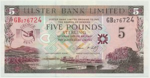 Northern Ireland, 5 pounds 2006, Geogre Best - commemorative banknote -