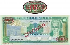 Nicaragua, 1 cordobas 1990 - SPECIMEN - Thomas De La Rue - Specimen No 012 -