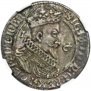 Sigismund III Vasa, 1/4 Thaler Danzig 1624/3 - PR• - NGC MS61