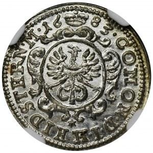 Śląsk, Księstwo Oleśnickie, Krystian Ulryk I, 1 Krajcar Oleśnica 1683 - NGC MS66