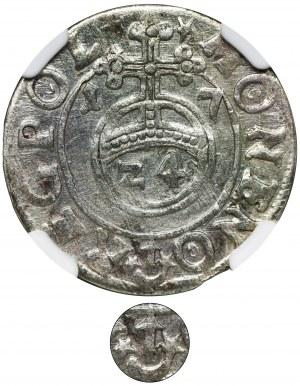 Zygmunt III Waza, Półtorak Bydgoszcz 1617 - NGC AU53 - RZADKI