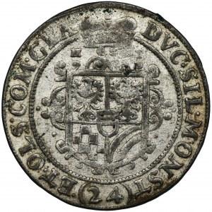 Śląsk, Księstwo Ziębicko-Oleśnickie, Henryk Wacław i Karol Fryderyk, 24 Krajcary Oleśnica 1622 HT - NIENOTOWANY