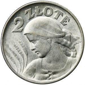 Kobieta i kłosy, 2 złote 1924 Filadelfia - odwrotka