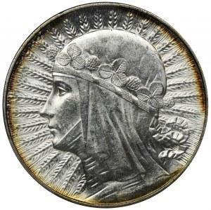 Głowa Kobiety, 5 złotych 1933 - PCGS MS62+