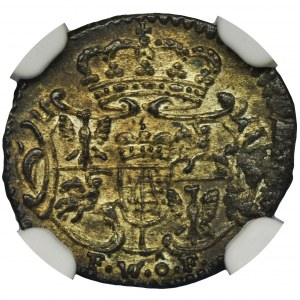 August III Sas, Halerz Drezno 1754 FWôF - NGC MS64