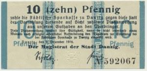 Gdańsk, 10 fenigów 1916