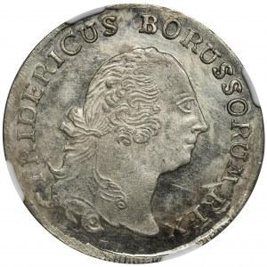 Germany, Brandenburg-Prussia, Friedrich II, 1/3 Thaler Dresden 1758 - NGC MS63