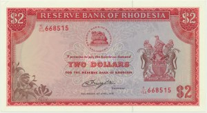 Rhodesia, 2 dollars 1979