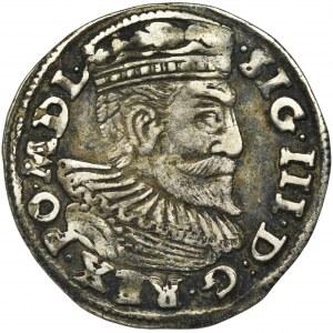 Zygmunt III Waza, Trojak Poznań 1595 - średnia głowa