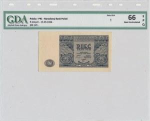 5 złotych 1946 - GDA 66 EPQ