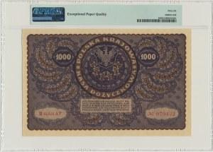 1.000 marek 1919 - III Serja AF - PMG 66 EPQ - szeroka numeracja