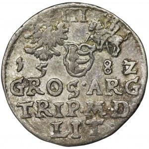 Stephen Bathory, 3 Groschen Vilnius 1582 - L/LIT