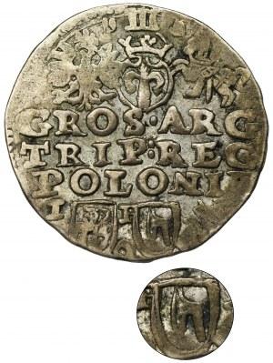 Zygmunt III Waza, Trojak Lublin 1595 - BARDZO RZADKI, herb Topór