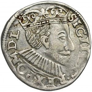 Zygmunt III Waza, Trojak Poznań 1591 - szeroka głowa