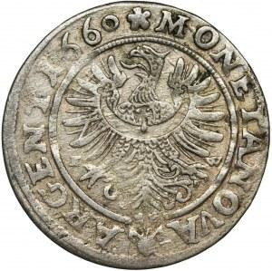 Śląsk, Księstwo Legnicko-Brzesko-Wołowskie, Krystian Wołowski, 3 Krajcary Brzeg 1660 EW