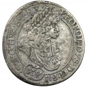 Śląsk, Panowanie habsburskie, Leopold I, 15 Krajcarów Wrocław 1694 MMW