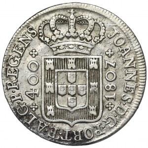 Portugalia, Książe Joao, 400 Reis 1807