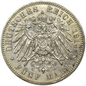 Niemcy, Królestwo Prus, Wilhelm II, 5 Marek Berlin 1914 A
