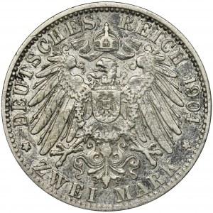 Niemcy, Hamburg, 2 Marki 1904 J