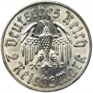 Niemcy, Republika Weimarska, 2 Marki Stuttgart 1933 F - RZADSZA