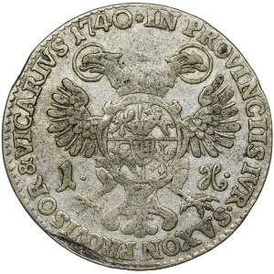August III Sas, Grosz wikariacki Drezno 1740