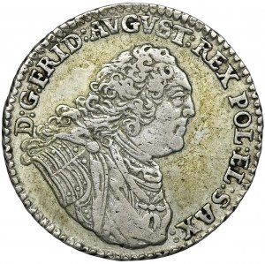August III Sas, 1/6 Talara (złotówka) Drezno 1763 FWôF