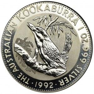 Australia, Elżbieta II, 1 Dolar 1992 - Kukabura
