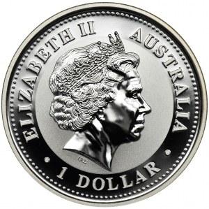 Australia, Elżbieta II, 1 Dolar 2006 - Kukabura