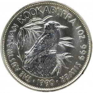 Australia, Elżbieta II, 5 Dolarów 1990 - Kukabura