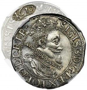 Sigismund III Vasa, 1/4 Thaler Danzig 1612 - NGC MS62 - RARE